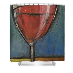 Second Glass Of Red Shower Curtain by Tim Nyberg