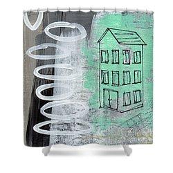 Secret Cottage Shower Curtain by Linda Woods