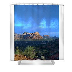Sedona Clouds Shower Curtain by Nina Prommer