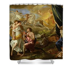 Selene And Endymion Shower Curtain by Nicolas Poussin