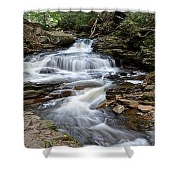 Seneca Falls Shower Curtain by Frozen in Time Fine Art Photography