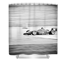Sepia Racing Shower Curtain by Darcy Michaelchuk