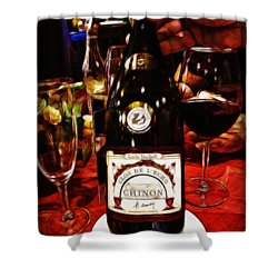 Serving Time Shower Curtain by Joan  Minchak