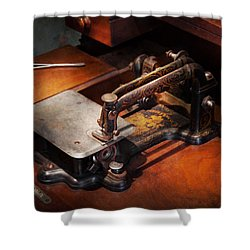 Sewing Machine - Sewing For Small Hands  Shower Curtain by Mike Savad