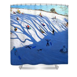 Shandows On A Hill Monyash Shower Curtain by Andrew Macara