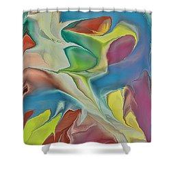 Sharks In Life Shower Curtain by Deborah Benoit