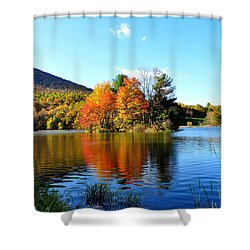 Sharp Top Mountain Shower Curtain by Todd Hostetter