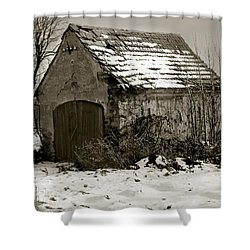 Shed Shower Curtain by Marcin and Dawid Witukiewicz