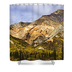 Sheep Mountain Along Glenn Highway Shower Curtain by Yves Marcoux
