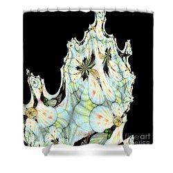 Shell Art 1 Shower Curtain by Maria Urso