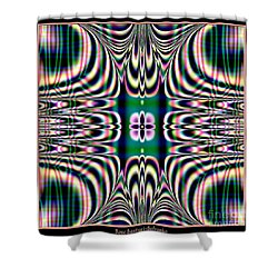 Shimmering Plaid Fractal 66 Shower Curtain by Rose Santuci-Sofranko