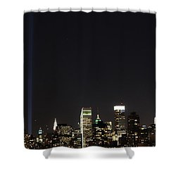 Shining Up  Shower Curtain by Catie Canetti