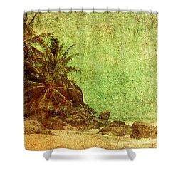Shipwrecked Shower Curtain by Andrew Paranavitana