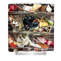 Shoe Sale Shower Curtain by Donna Blackhall