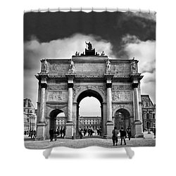 Sightseeing At Louvre Shower Curtain by Elena Elisseeva