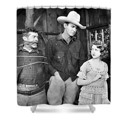Silent Film: Cowboys Shower Curtain by Granger