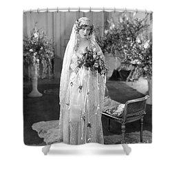 Silent Film: Wedding Shower Curtain by Granger
