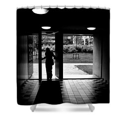 Silhouette Of A Man Shower Curtain by Fabrizio Troiani