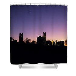 Silhouette Of St. Patricks Church And A Shower Curtain by The Irish Image Collection