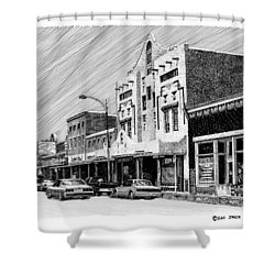 Silver City New Mexico Shower Curtain by Jack Pumphrey