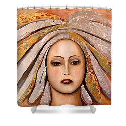 Silver Shower Curtain by Leah Saulnier The Painting Maniac