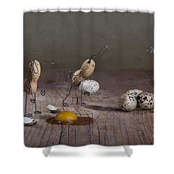 Simple Things Easter 04 Shower Curtain by Nailia Schwarz