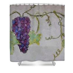 Simply Grape Shower Curtain by Heidi Smith