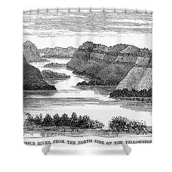Sioux: Rosebud River Shower Curtain by Granger