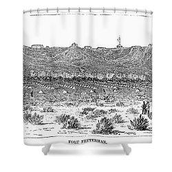 Sioux War: Fort Fetterman Shower Curtain by Granger