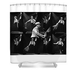 Sir Elton John 9 Shower Curtain by Dragan Kudjerski