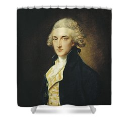Sir John Edward Swinburne Shower Curtain by Thomas Gainsborough