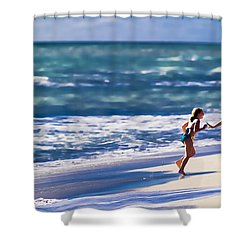 Sister Fun Shower Curtain by Patrick M Lynch