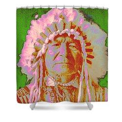 Sitting Bear Shower Curtain by Gary Grayson