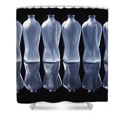 Six Glass Bottles Shower Curtain by David Chapman