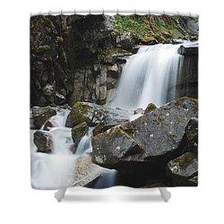 Skagway Waterfall 8619 Shower Curtain by Michael Peychich