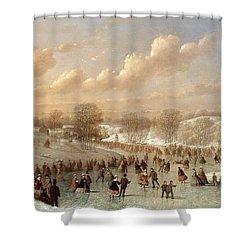 Skating Scene Shower Curtain by Johann Mongels Culverhouse