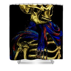 Skeleton Fashion Victim Shower Curtain by Tylir Wisdom