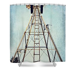 Sky High Shower Curtain by Pam  Holdsworth