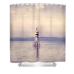 Small Lighthouse Shower Curtain by Joana Kruse