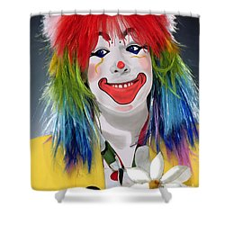 Smiling Clown Shower Curtain by Methune Hively