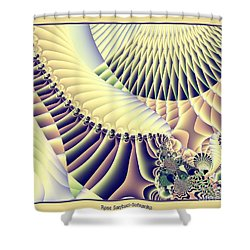 Snow Capped Mountains And Verdant Valleys Fractal 156 Shower Curtain by Rose Santuci-Sofranko