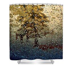 Snow On My Window Shower Curtain by Ellen Heaverlo