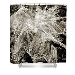 Snow Storm Abstract Shower Curtain by Andee Design