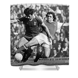 Soccer Tackle, 1976 Shower Curtain by Granger