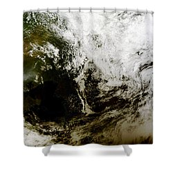 Solar Eclipse Over Southeast Asia Shower Curtain by Stocktrek Images