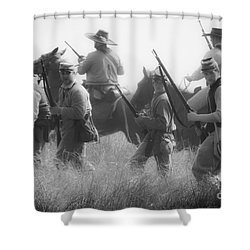 Soldiers Shower Curtain by Kim Henderson