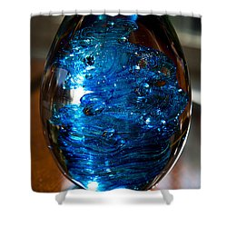 Solid Glass Sculpture E7 Shower Curtain by David Patterson