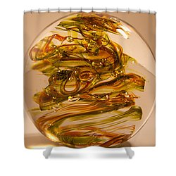 Solid Glass Sculpture R11 Shower Curtain by David Patterson