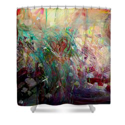 Something Beautiful Shower Curtain by Linda Sannuti