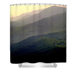 Song Of The Hills Shower Curtain by Karen Wiles